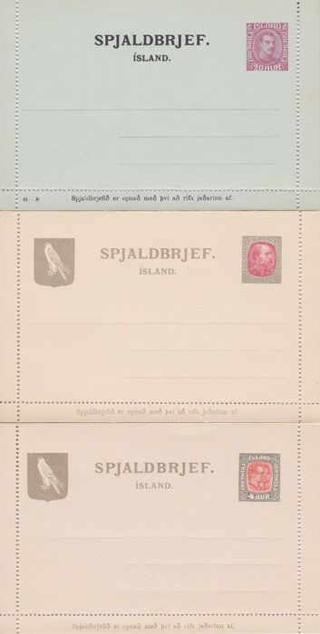 IJsland 1902/1930 - Collection with 74 postal stationery items