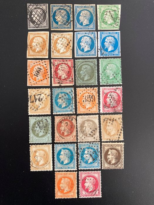 France - 1849-1867 - Ceres and Napoleon III, including between 3 and 32 - Yvert
