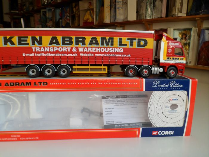 Corgi - 1:50 - Volvo Curtainside Ken Abram Ltd - REF CC12411