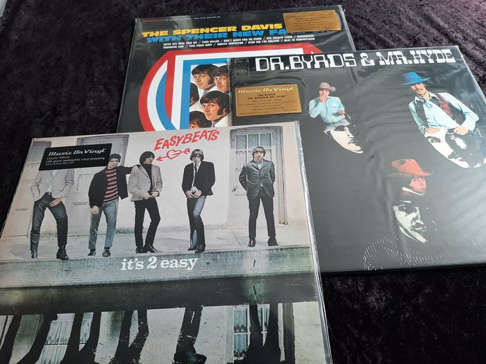 The Byrds , Spencer Davis Groep , The Easybeats - Diverse artiesten - Dr.Byrds & Mr.Hyde , With Their New Face, It's 2 Easy - Diverse titels - LP's - 2012/2019