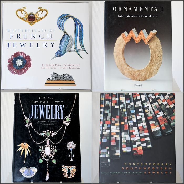 Jewelry - Lot with 4 books: Masterpieces of French Jewelry, 20th Century Jewelry and 2 others - 199/2006