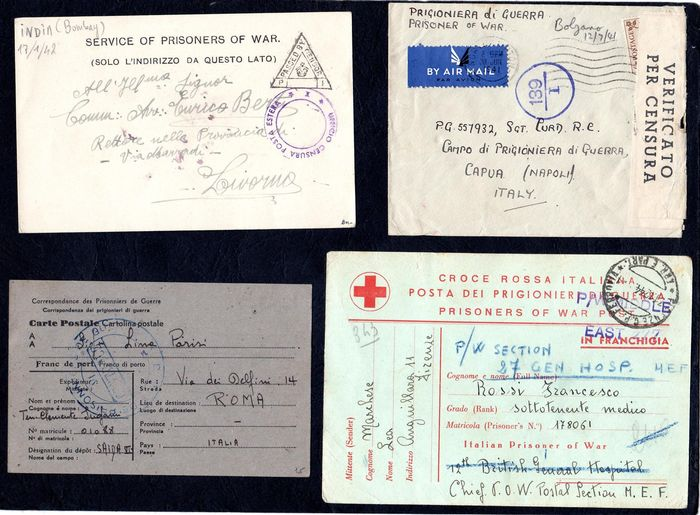 Italië Koninkrijk 1941/1946 - Lot of 9 letters from and to prisoners of war