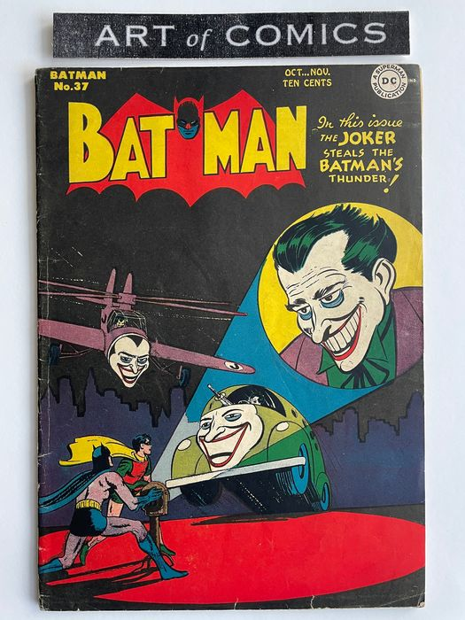 Batman #37 - Joker Cover & Story - Rare Very Early Golden Age Batman Comic!! - Mid Grade!! - Hot Book!! - Softcover - First edition - (1946)