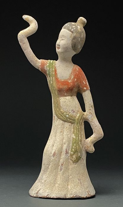 Chinese Tang Dynasty Terracotta Dancing Lady