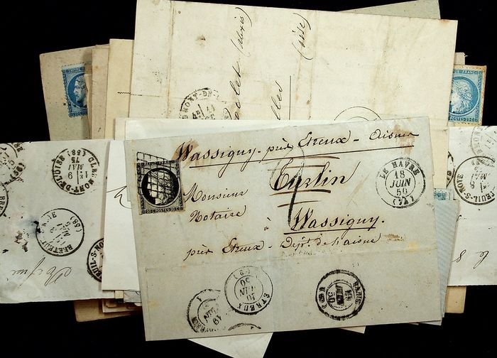 France 1850/1899 - Lot with 120 covers pre-1900