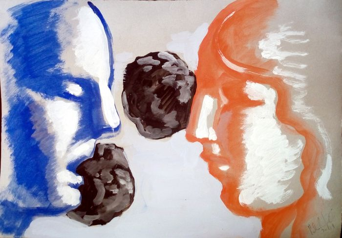 Paolo Beneforti - A talking couple and masses