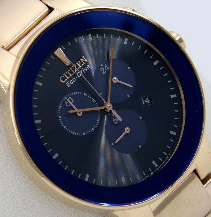 """Citizen - - """"NO RESERVE PRICE"""" - Eco Drive Crono Blue - Gold """"Great Look"""" - Homme - 2011-aujourd'hui"""
