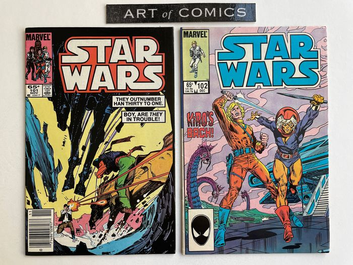 Star Wars #101 & #102 - Kiro Appearance - The last issues Have A Very Low Print Run - High Grade! - Softcover - Eerste druk - (1985)