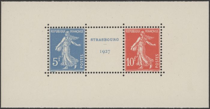Frankrijk - France, 1927 - Yvert No. 242A, pair with gutter - Mint without hinge.