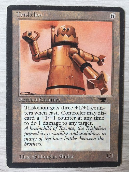 Wizards of The Coast - Magic: The Gathering - Trading card MTG Magic The Gathering Triskelion ENG- Antiquities Edition - 1994
