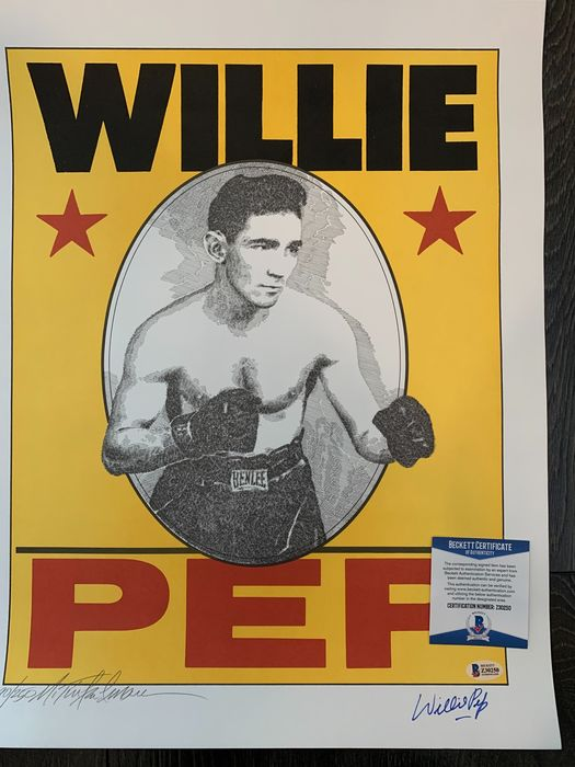 Boxen - Willie Pep and artist Murray Timkleman - Poster