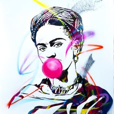 UTOPIA - Frida Kahlo with Bubble Gum