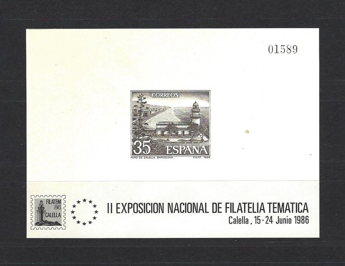Spain 1986 - 'Calella' official deluxe proof