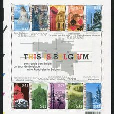 Belgio 2003 - Year as published by Bpost in accordance with Davo album sheets + stamp from booklet