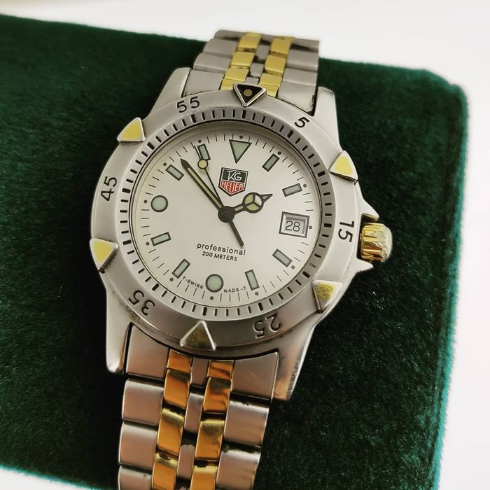 TAG Heuer - 'No Reserve Price' Professional 200m - Ref. WD1221-K-20 - Heren - 1980-1989