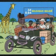 Belgio 2001 - Year as published by Bpost in accordance with Davo album sheets + stamps from booklets