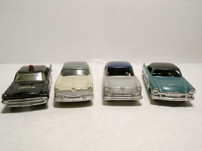 Dinky Toys - 1:43 - Desoto Fireflite-Hudson Hornet-Simca Versailles-Plymouth Belvedere - Ref N) 24D-24Z-174-258