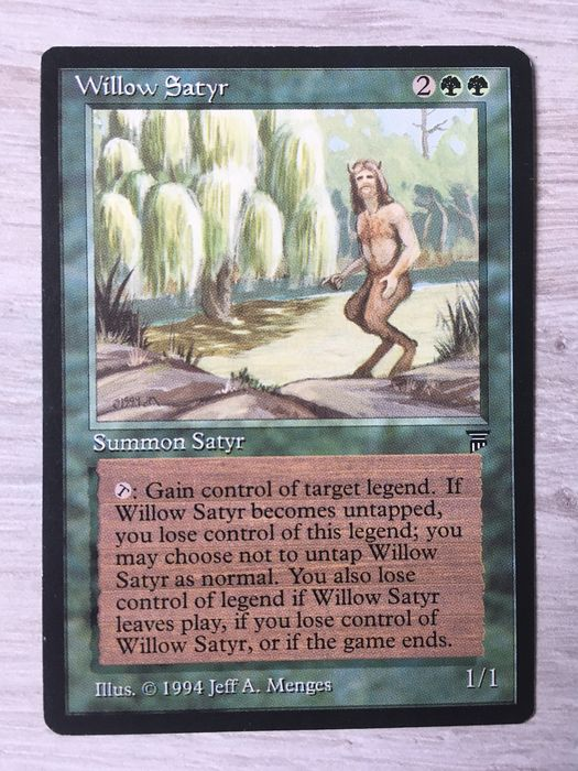 Wizards of The Coast - Magic: The Gathering - Trading card MTG Magic The Gathering - Legends Edition ENG - Willow Satyr - 1994