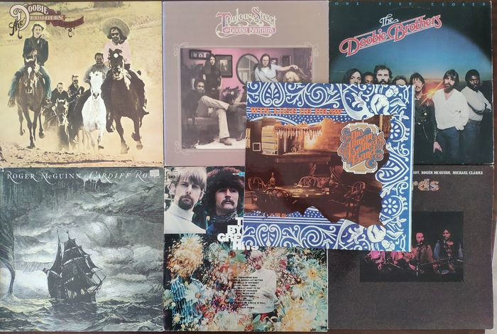 Allman Bros. Band, Byrds & Related, Doobie Bros. - 7 Albums in Southern Rock - Diverse titels - LP's - 1967/1980