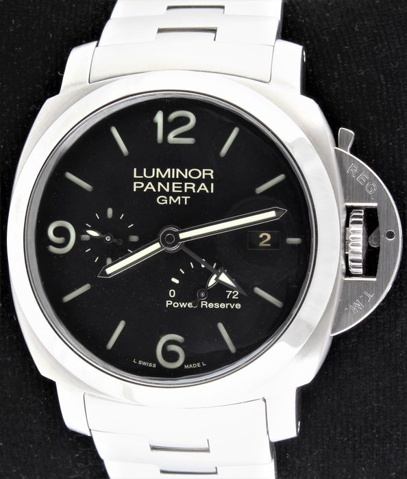 Panerai - Luminor GMT - Power Reserve - 3 Days - Limited Edition - Excellent Condition - Ref. No: OP6902, Limited No. P2260/2500 - Mænd - 1990-1999