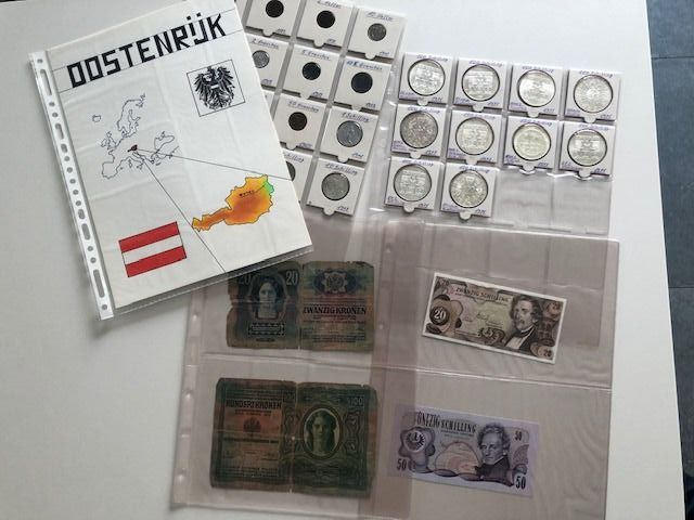 Austria. 28 Coins and Banknotes