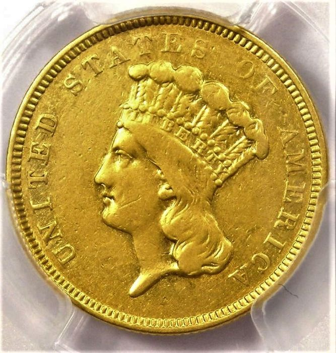 United States. 3 Dollars 1854-O (New Orleans Mint) Gold Indian Princess