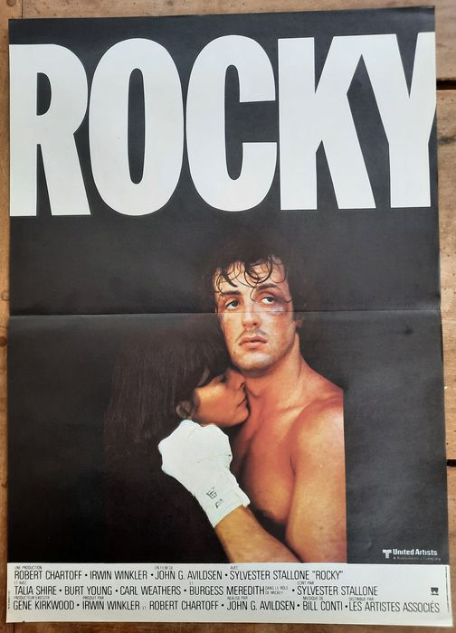 Rocky - Sylvester Stallone - Affiche, Original 1976 French Cinema release - 40x60 cm - Iconic Art