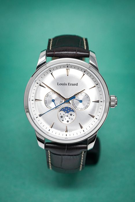 """Louis Erard - Heritage Collection Moon Phase - 14910AA11.BDC101 """"NO RESERVE PRICE"""" - Heren - 2011-heden"""