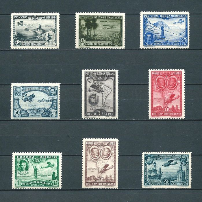 Spanje 1930 - Ibero-American airmail complete set, well centred - Edifil 583/91