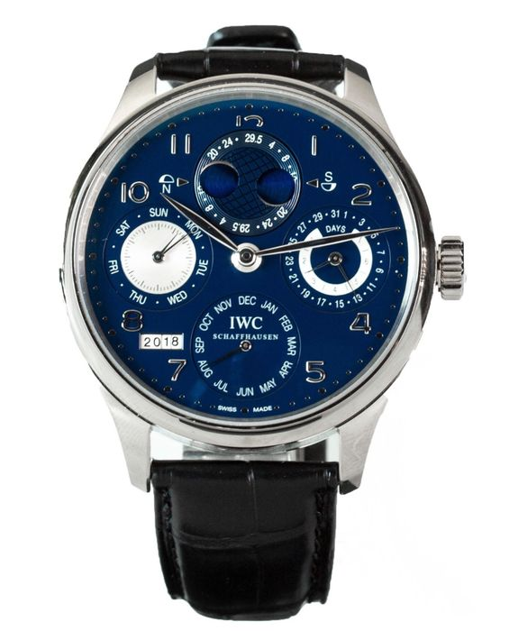 IWC - Portuguese Perpetual - 18kt White Gold - IW503203 - Heren - 2011-heden