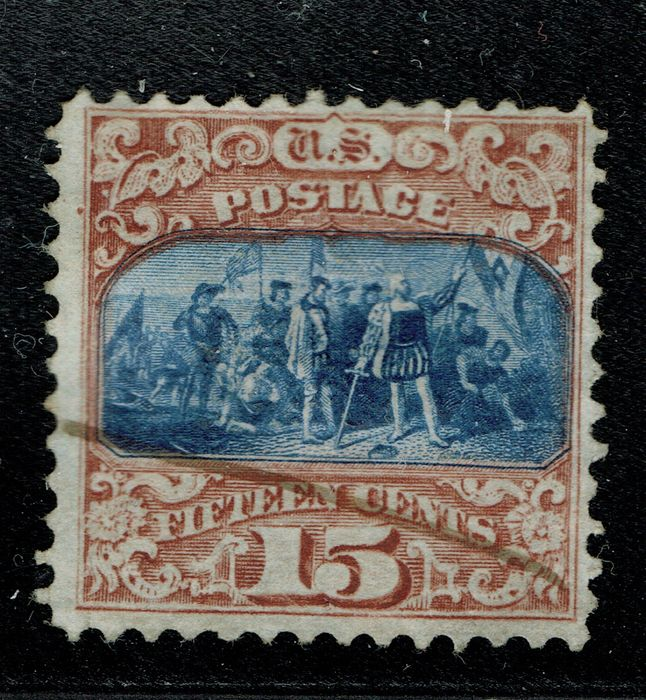 United States of America - 1869, 15C, brown and blue, Type II. - Scott 119