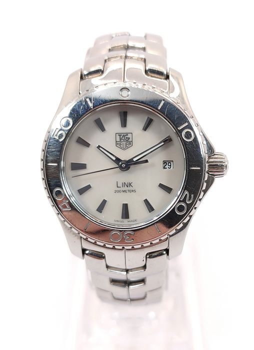 TAG Heuer - Link Lady White Mother of Pearl Date Edition - Wj1313-0 - Donna - 2011-presente