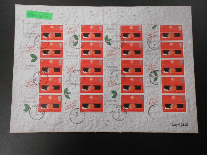 Grande Bretagne - Collection of fourteen complete sheets of Smily and Seasons Greetings - Yvert