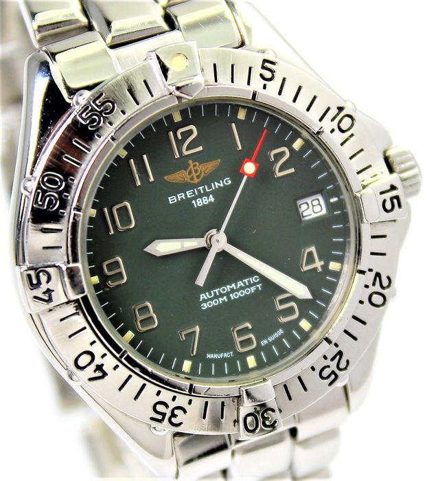 """Breitling - """"NO RESERVE PRICE"""" Swiss Made Automatic 300 m - A 17035 Excellent Condition - Heren - 2000-2010"""