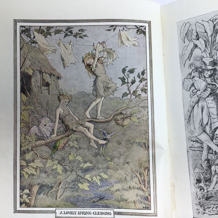J.M. Barrie / F.D. Bedford (ill) - Peter and Wendy (first edition with colored frontispiece) - 1911