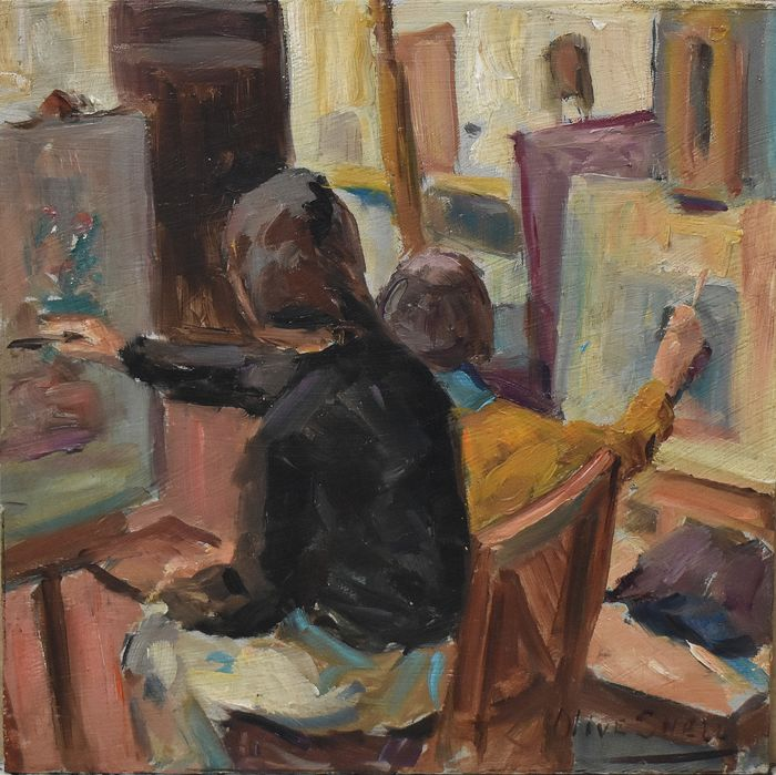 Olive Snell (1888-1962) - in the studio