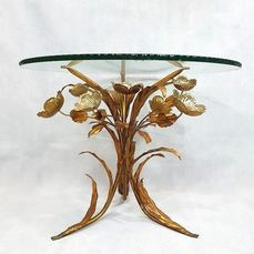 Table d'appoint, table basse table en verre, style Coco Chanel