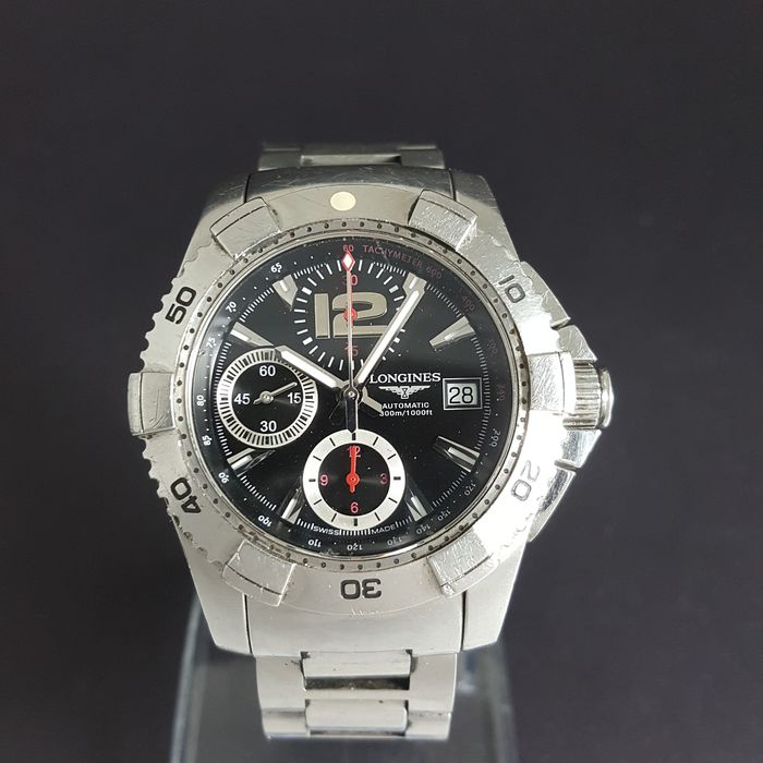 Longines - Hydro Conquest Chronograph - L3.651.4 - Heren - 2000-2010