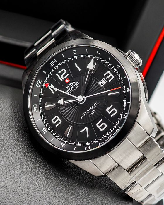 """Swiss Military by Chrono - GMT Automatic Limited edition 300 - """"NO RESERVE PRICE"""" - SMA34070.01 - Herren - 2011-heute"""