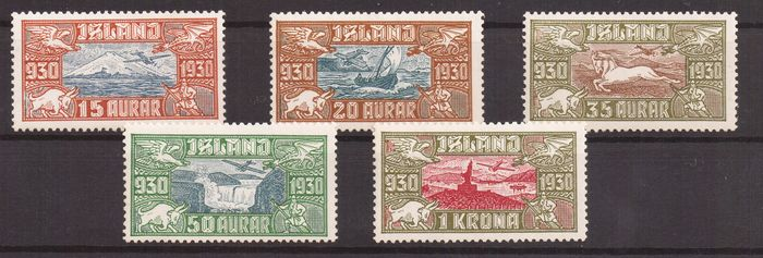 IJsland 1930 - Millenary of the Parliament. Airmail - Unificato A4/A8