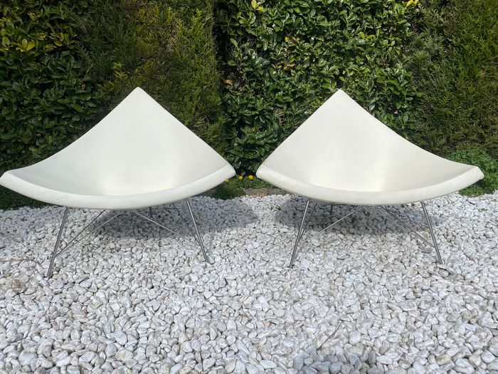 George Nelson - Vitra - Sessel (2) - coconut