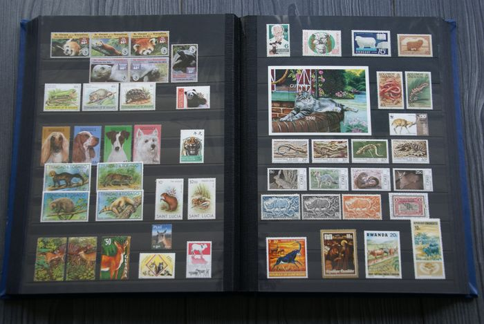 World 1960/2020 - Stock book (64 pp.) with collection Animals