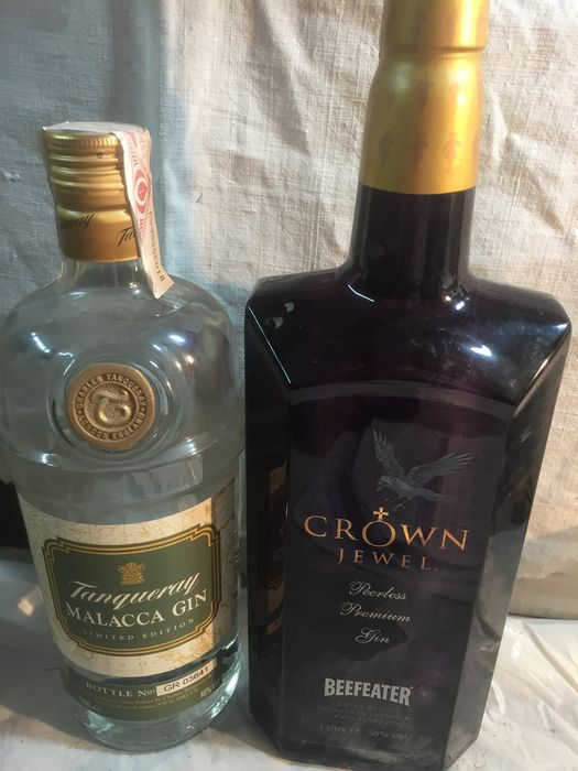 Tanqueray Malacca - Beefeater Crown Jewel - 100cl - 2 garrafas