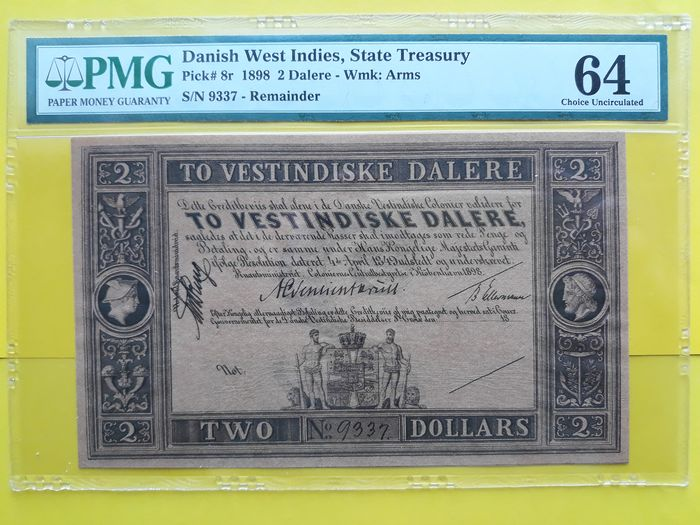 Deens-West-Indië - 2 Daler 1898 - remainder - Pick 8r