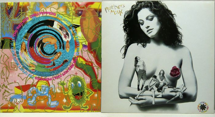 Red Hot Chili Peppers - 2 LP Albums : The Uplift Mofo Party Plan - Mother's Milk - LP Album - 1987/1989