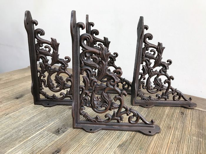 Shelf supports - Wall supports (4) - Iron (cast/wrought) - recent