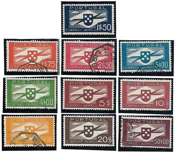 Portugal 1911/1967 - BOB -10 Complete sets - Propellers, Trade, Orders,Tag, Branches, Charge, D.Manuel, Ceres, Lisbon, - Mundifil BOB-1/10-1/17-18/25-45/53-54/64-65/81-1/2-3/4-5/6-7/12