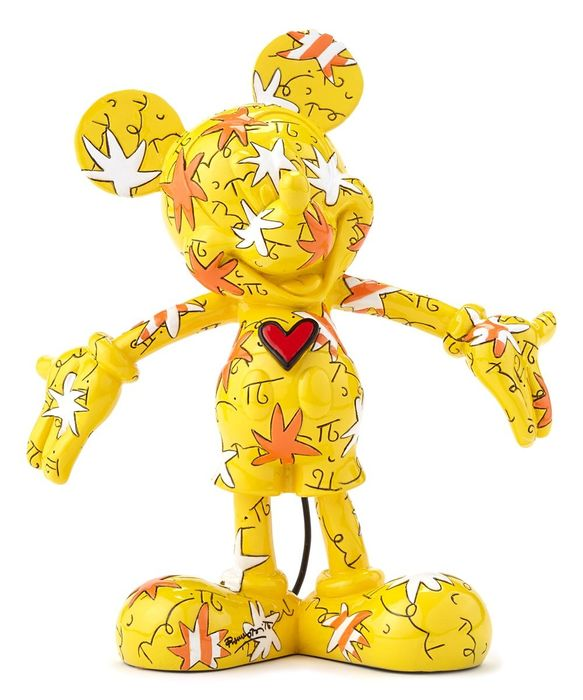 Mickey Mouse - Figurine - Britto Disney - Mickey Mouse Wrapped Yellow Gelb