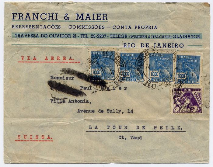 Brazil 1937 - Condor Zeppelin: L208 - L226 - L 232 : SS Westfalen catapult : lot of 3 covers to Europe