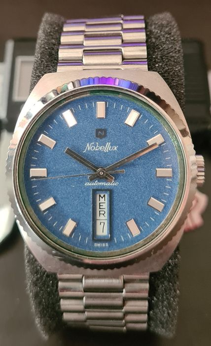 Nobellux - Automatic Day Date - N.O.S. - Heren - 1970-1979